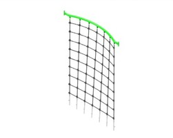 5' and 6' Curved net bridge  (PO-FIL2-050-U-00)
