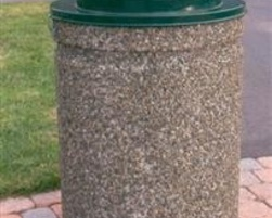 Concrete garbage bin (round model) - C-0309