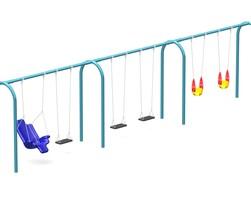 8' Arch. swing fr., 6 seats not inc. (L-0402)