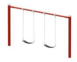 6' Steel swing 2 pl. (Anti-wrap) (L-07008)