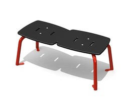 Jazz Bench 2 pl. backless, 4 legs, AL (H-13005)