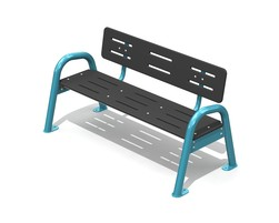 Classic Jazz Bench 3 pl. with backrest, AL - H-14000