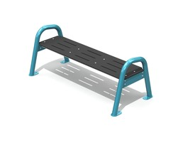 Classic Jazz Bench 3 pl. backless, AL (H-14002)