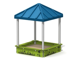 5'x5' covered sandbox (c-15001)