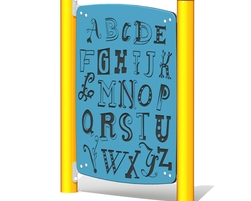 Freestanding alphabet panel (L-14026-A)