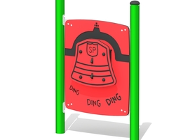 Freestanding firefighter bell panel (L-15047-A)