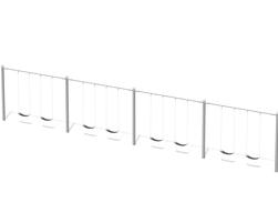 Bal. en acier, 8 pl. 8' (L-0521)