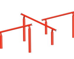 Inclined jumping bars (Z-17000)
