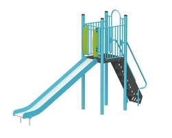 6' Free standing slide (Stainless steel) (L-15030-B)