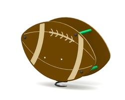 Ballon de foot sur ressort (LA-16003)