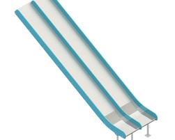 6' Stainless Steel Double Slide (GL-INO2-060-U-00)