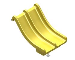 3' Steep double slide (GL-DBL2-030-U-00)