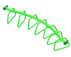 Échelle horizontale courbe à boucles (PO-BOU2-000-U-00)