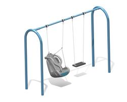 8' Arch. swing, 2 pl.(Anti-wrap) (L-06016)