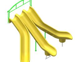 6' (1,8m) Triple modslide (GL-SEN12-060-U-44)
