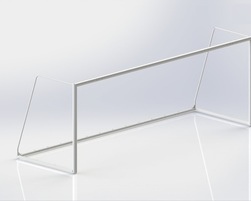 18' x 6' Junior soccer goal post (Without net) (J-17000)
