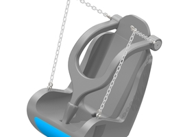 Rotomolded Adaptive Swing Seat (Harness, Chains and Clevis) (S-18000)