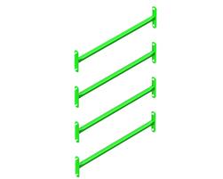 4 rung vertical ladder (30) (GV-ECH4-000-U-30)