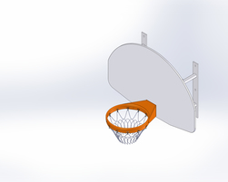Wall mounted basketboard (J-18002)