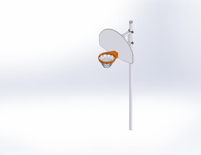 J 18001 basket poteau droit 3d1