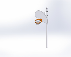 Basket with straight post (J-18001)