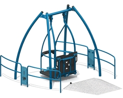Wheelchair accessible swing set (L-19086)