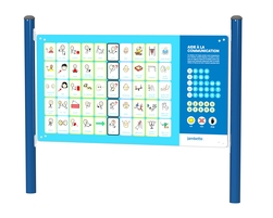 Non-verbal communication board (French-English/double-sided) (L-20029)