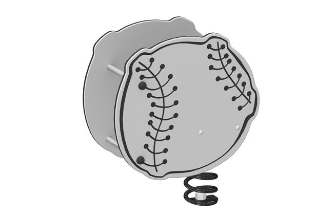 La 19000 balle de baseball sur ressort 3d1
